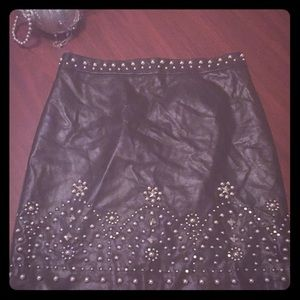 Woman's Faux Leather Skirt